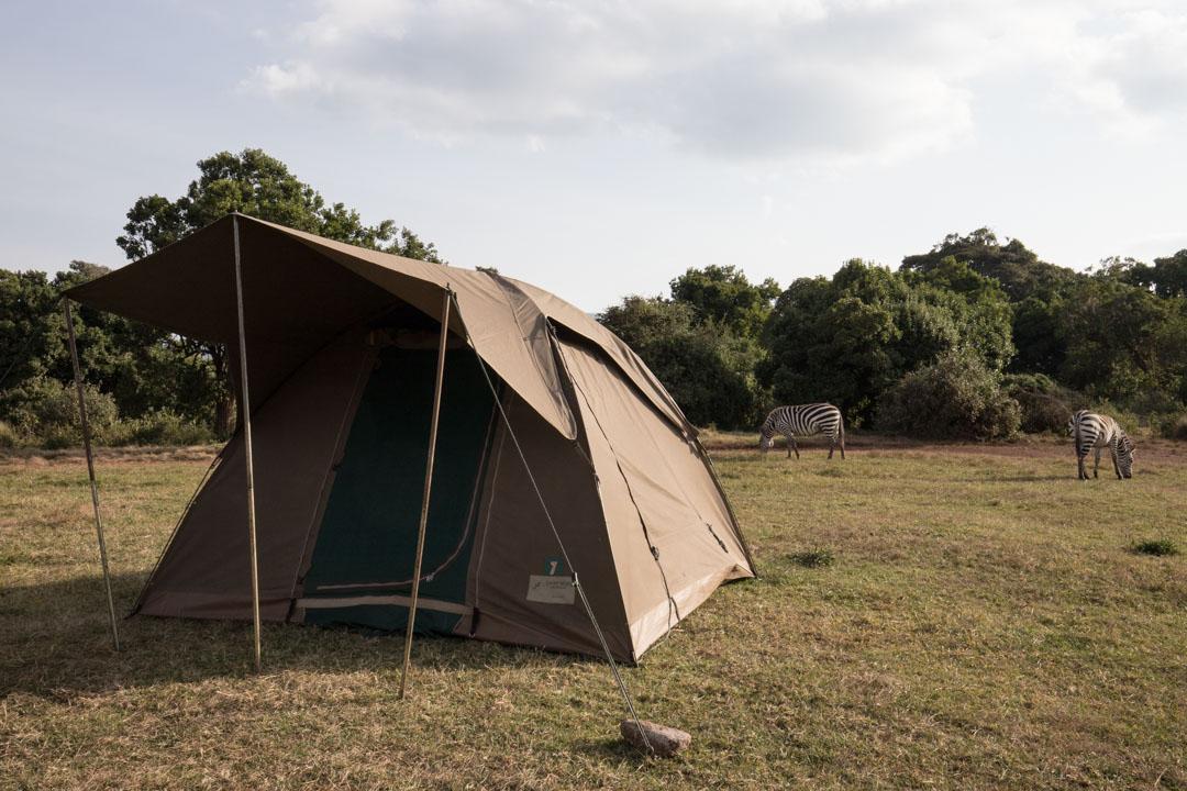 telttailemassa Ngorongorossa