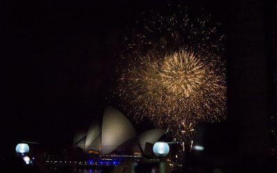Unohtumaton vuoden vaihtuminen Sydneyssä