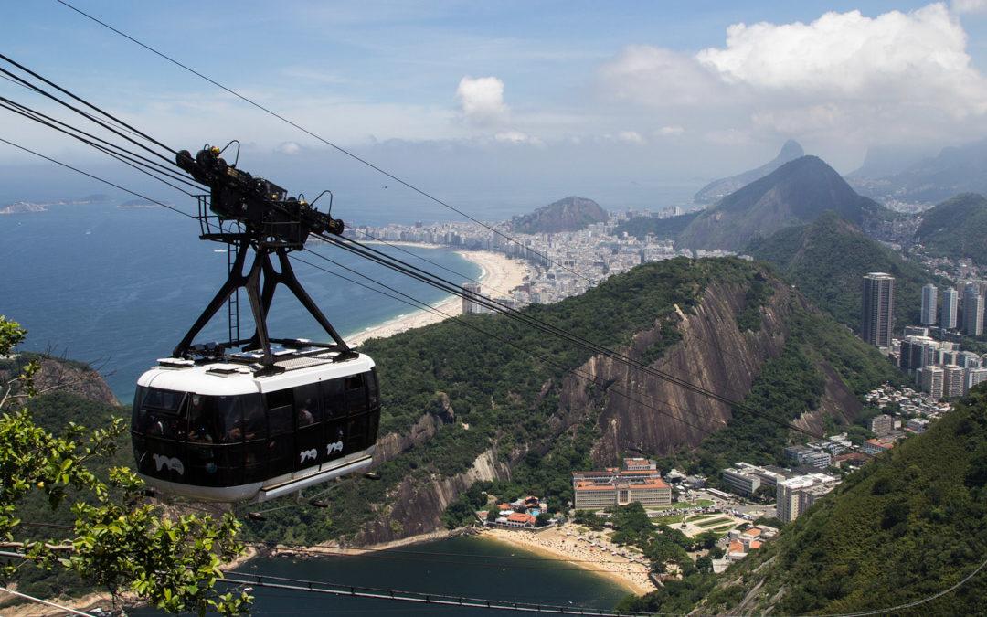 näkymät sokeritoppavuorelta Rio de Janeirossa Brasiliassa