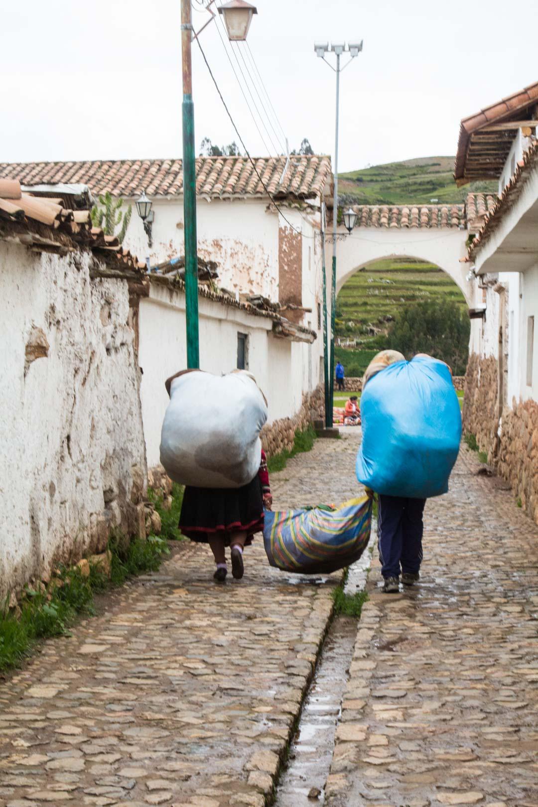 Chincheron kylä Perussa