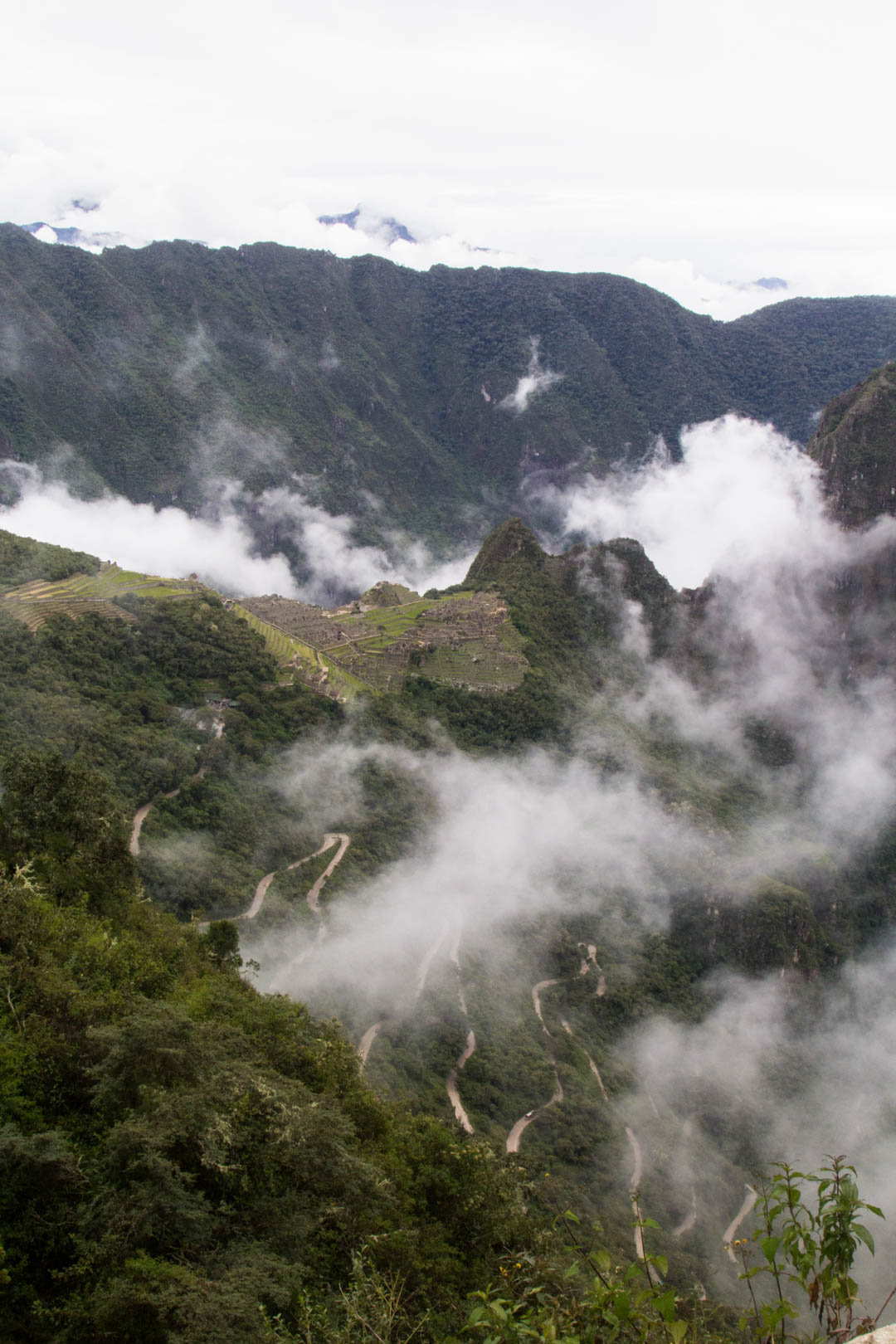 Näkymät Machu Picchuun Sun Gatelta
