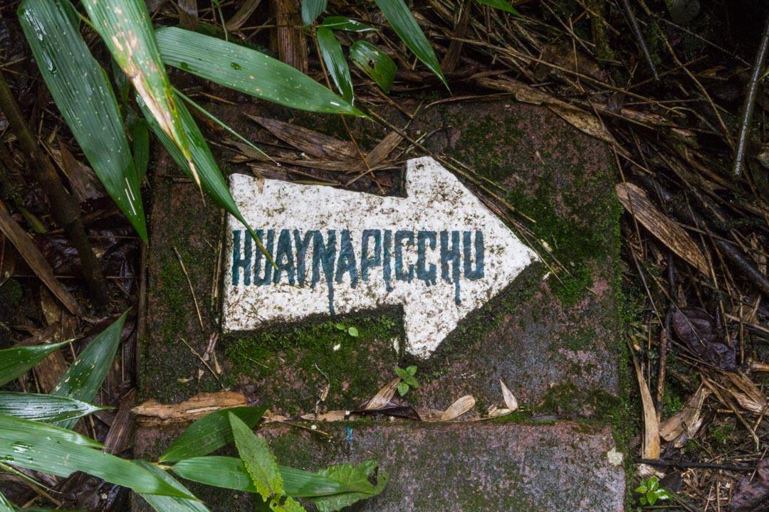 kohti Huayna Picchua Machu Picchulla