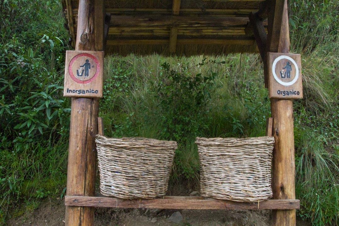 jätteiden lajittelua Perussa