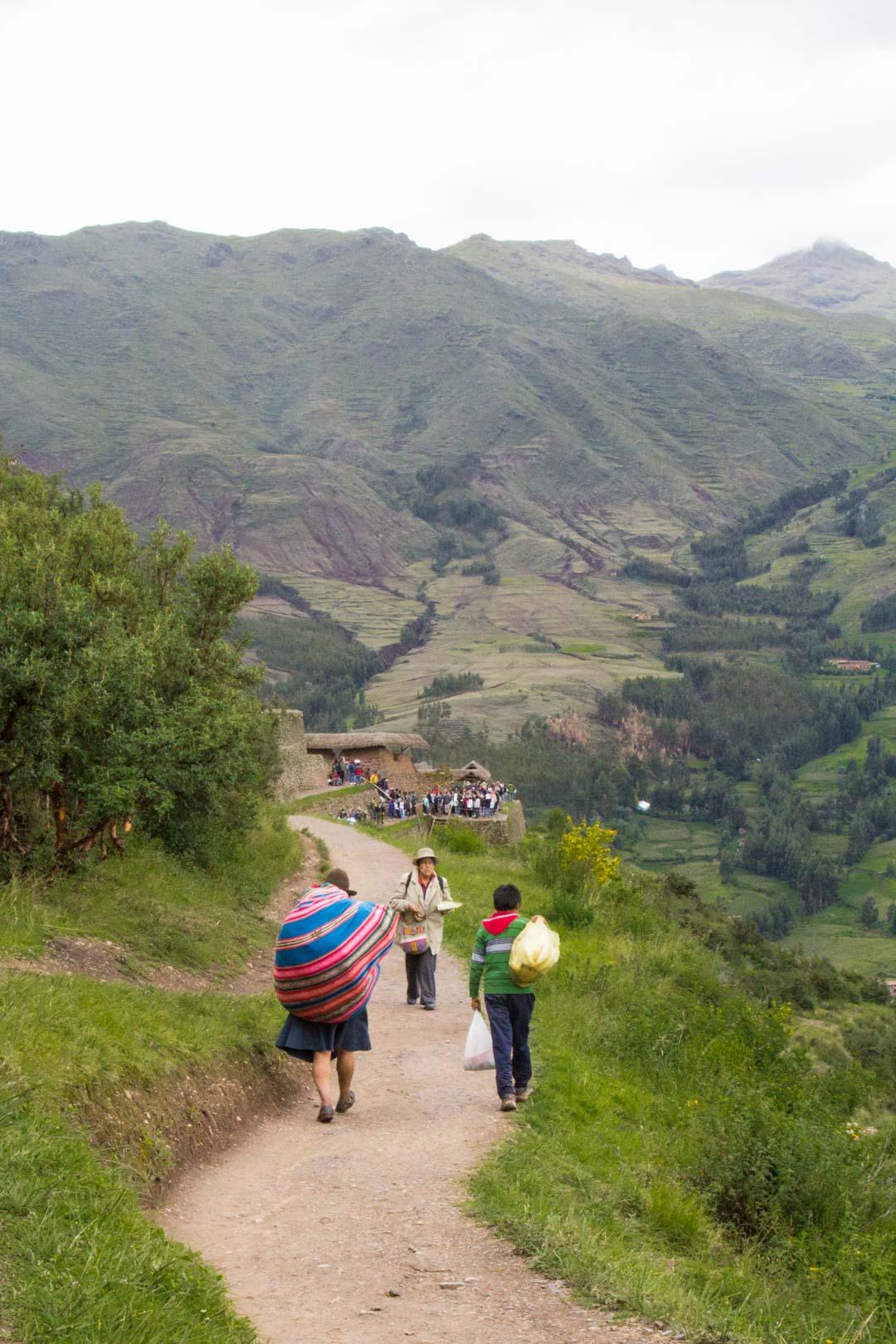 inkakaupunki Pisacin rauniot Perun Pyhässä laaksossa