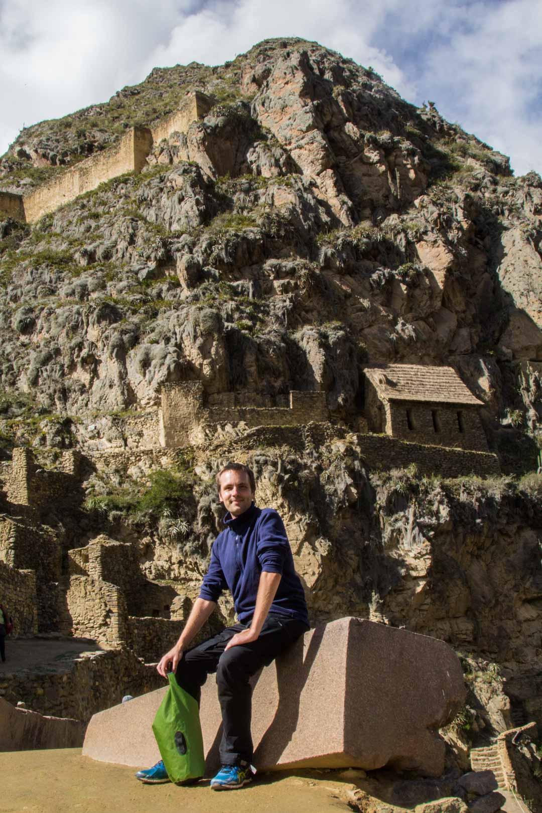 inkojen Ollantaytambon rauniot Perun Pyhässä laaksossa