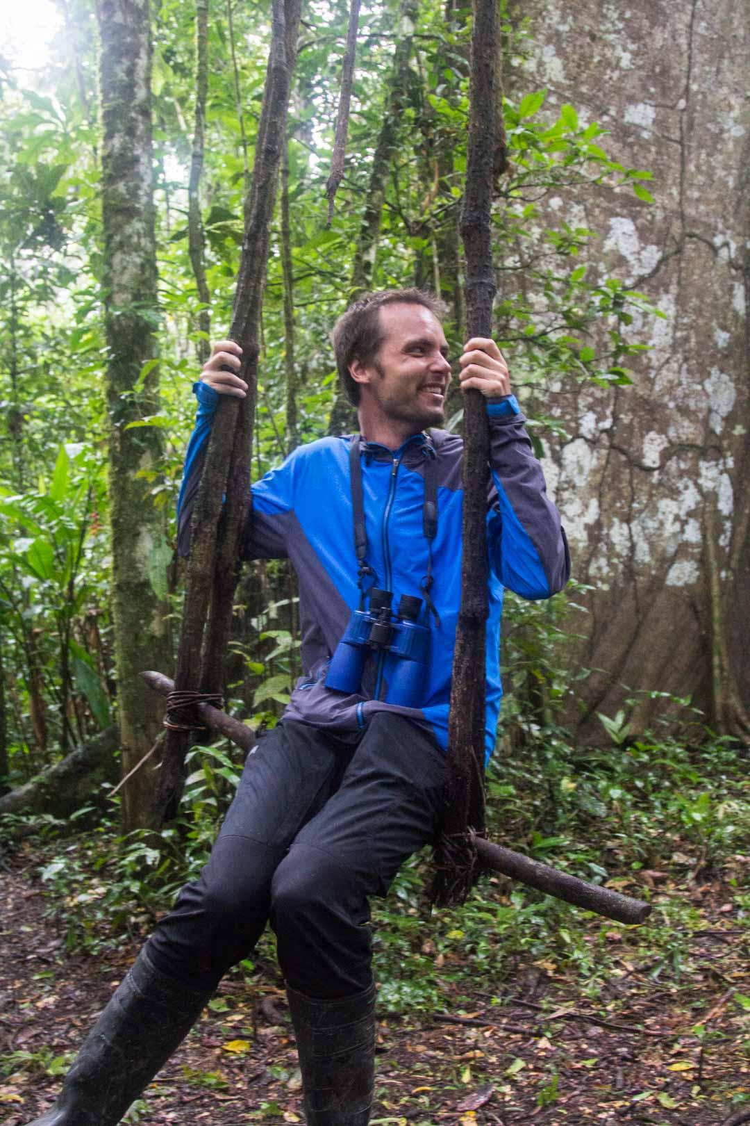 liaanikeino Amazonin sademetsässä