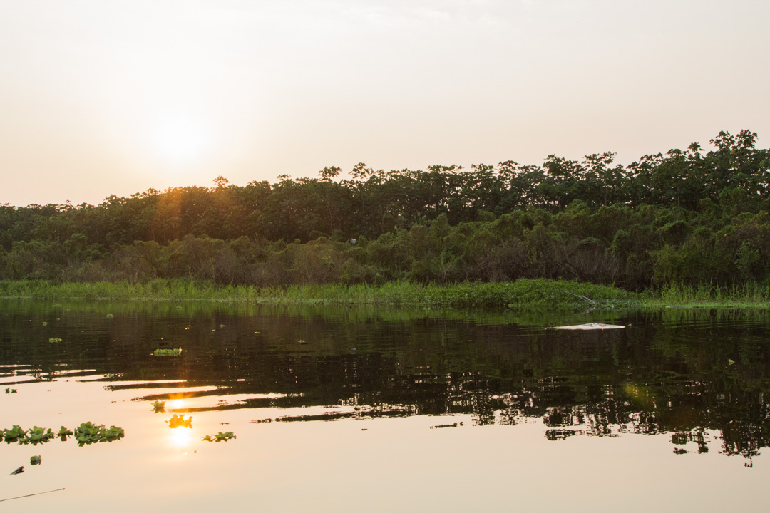 illalla veneretkellä Amazonilla
