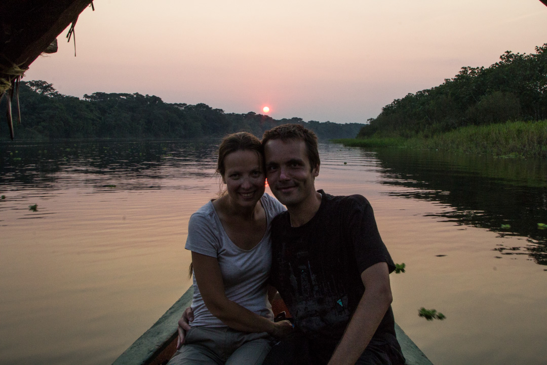 auringonlasku Amazonilla