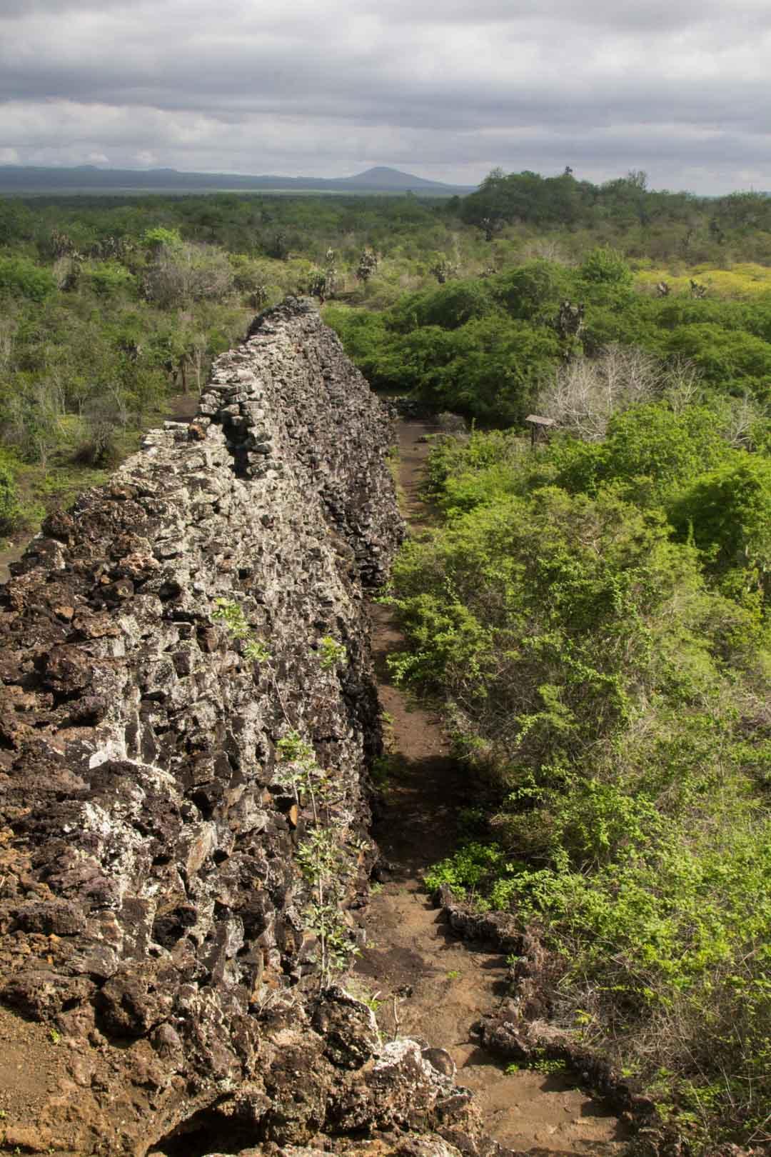 Kyynelten muuri Isabela-saarella Galapagossaarilla