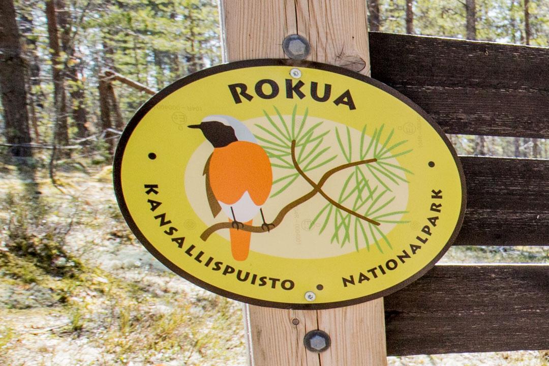 Rokuan kansallispuiston logo