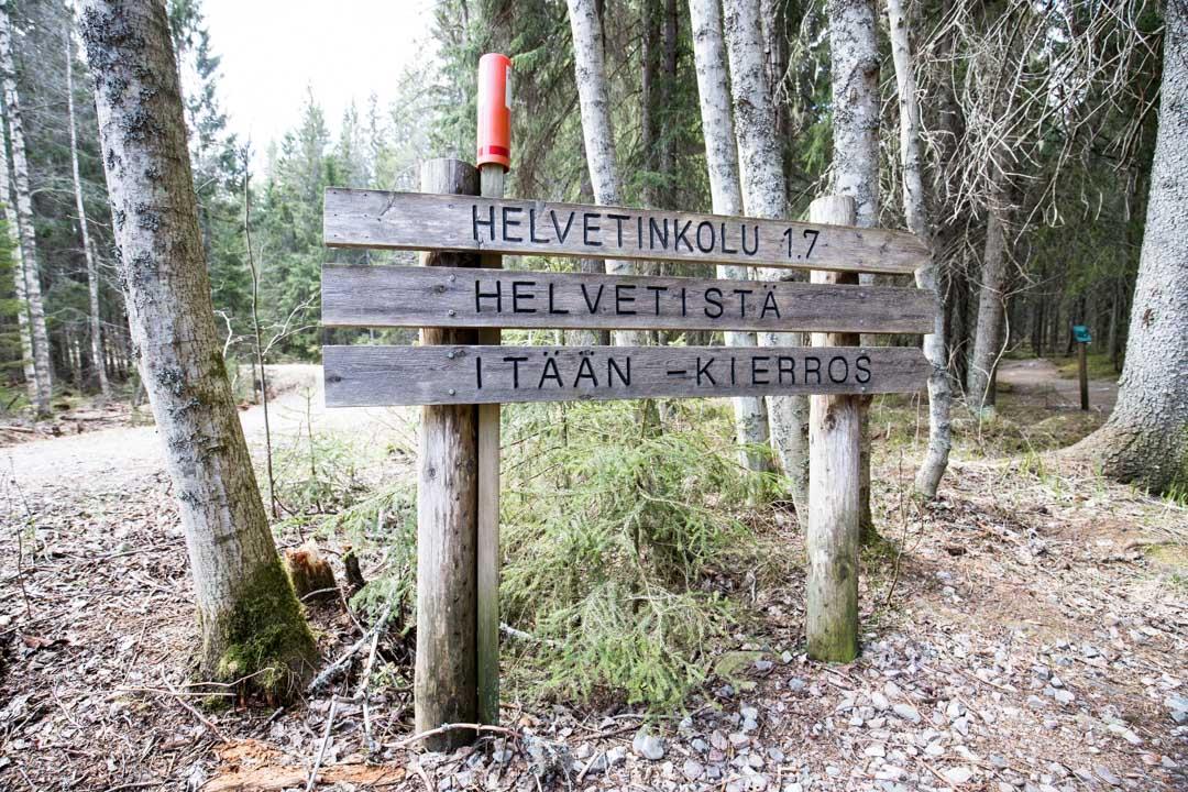 Helvetistä Itään rengasreitti Helvetinjärven kansallispuistossa