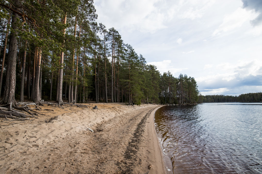 Haukan hieta Helvetinjärven kansallispuistossa