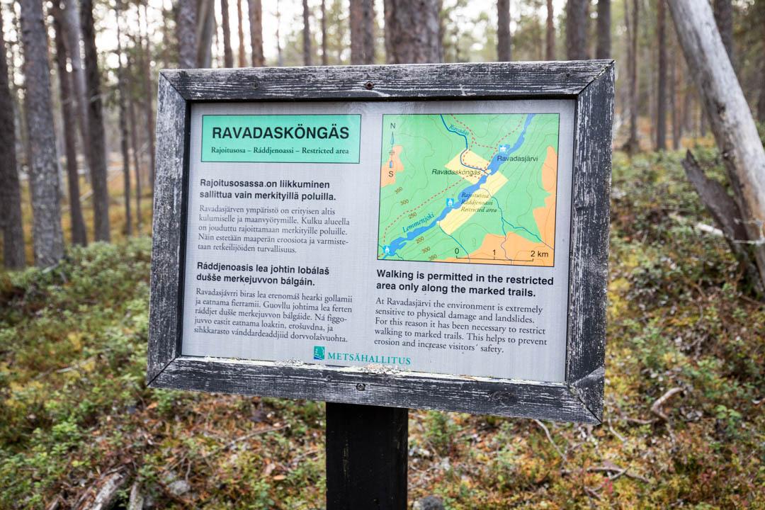 Ravadaskönkään rajoitusalue Lemmenjoen kansallispuistossa