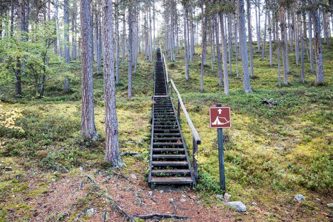 Lemmenjoen kansallispuiston ylämäkeä