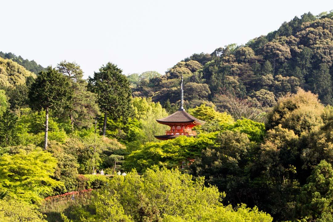 Kiamizudera temppeli Kiotossa Japanissa