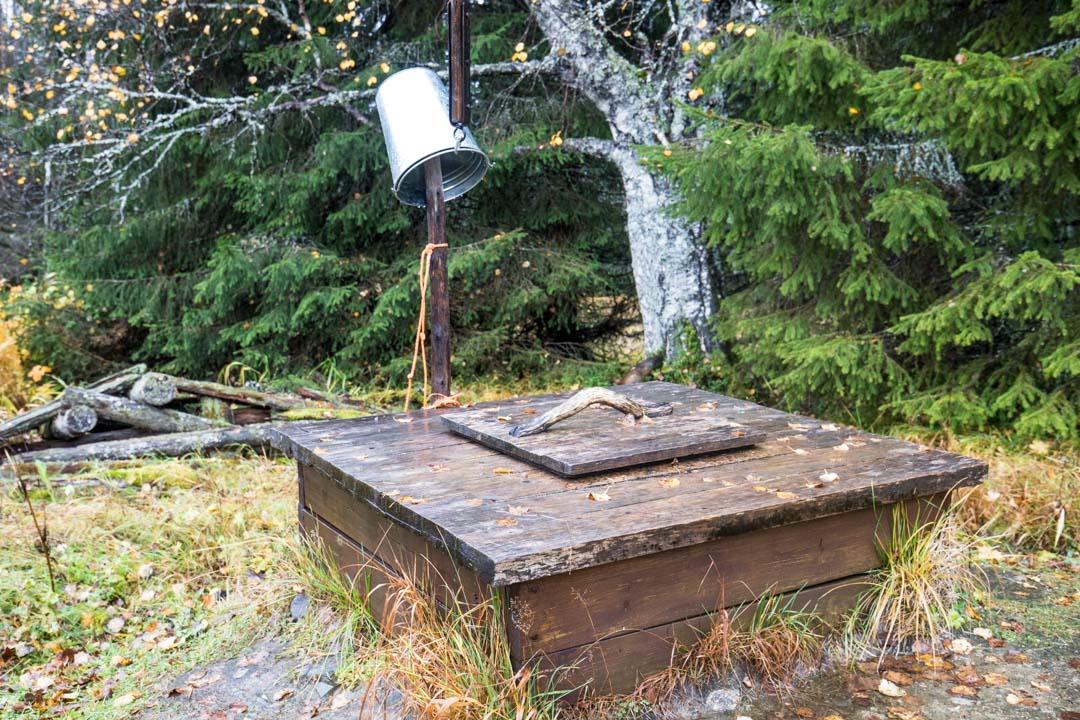 kaivo Rytivaaran torpalla Syötteen kansallispuistossa Rytivaaran kierroksella
