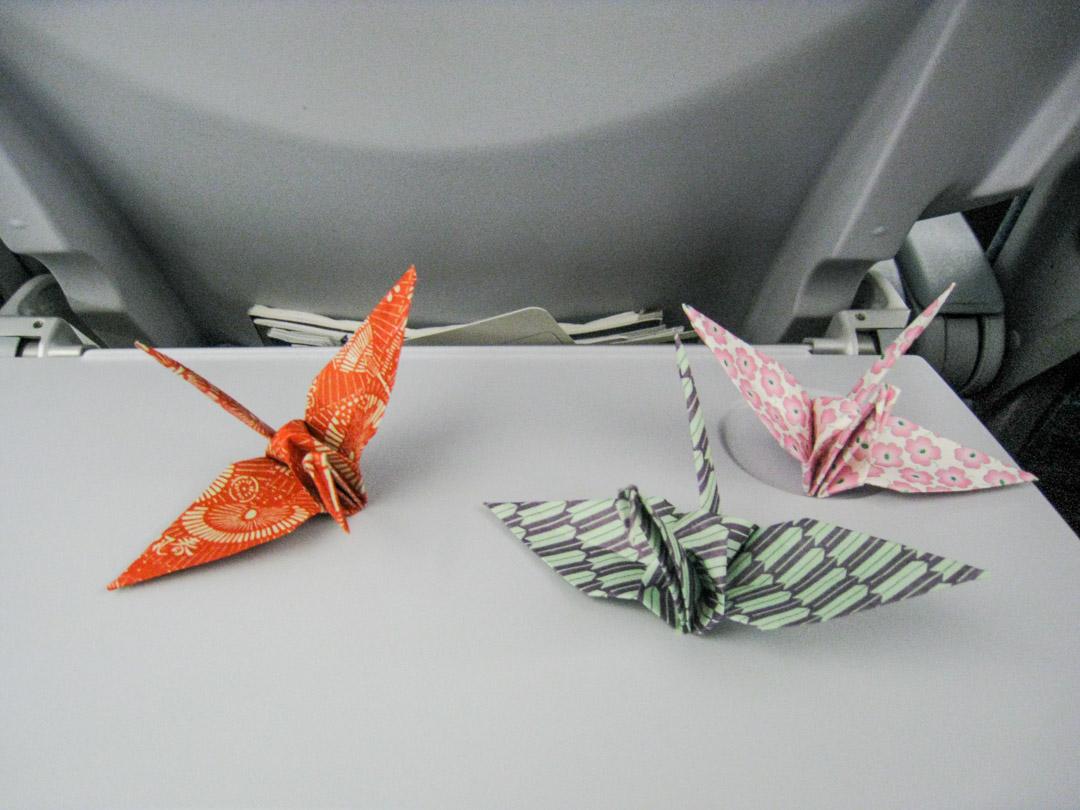 japanilainen origami paperilintu