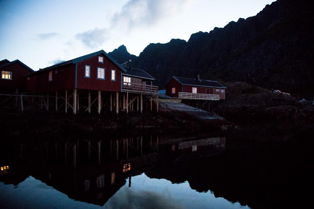 rørbuer-majoitusta Å:n kylässä Lofooteilla Norjassa