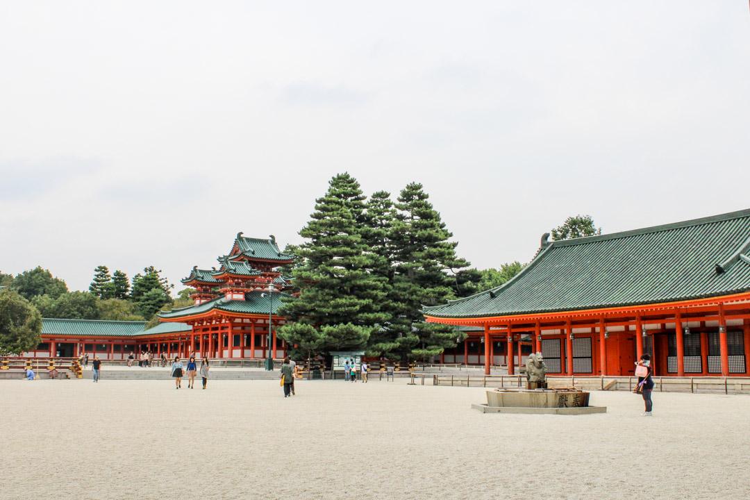 Heian pyhäkkö Kiotossa Japanissa