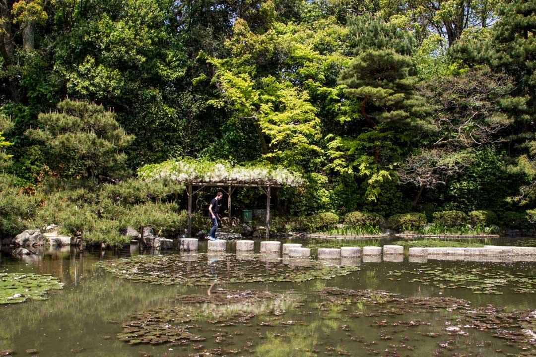 Heian pyhäkön puutarha Kiotossa Japanissa