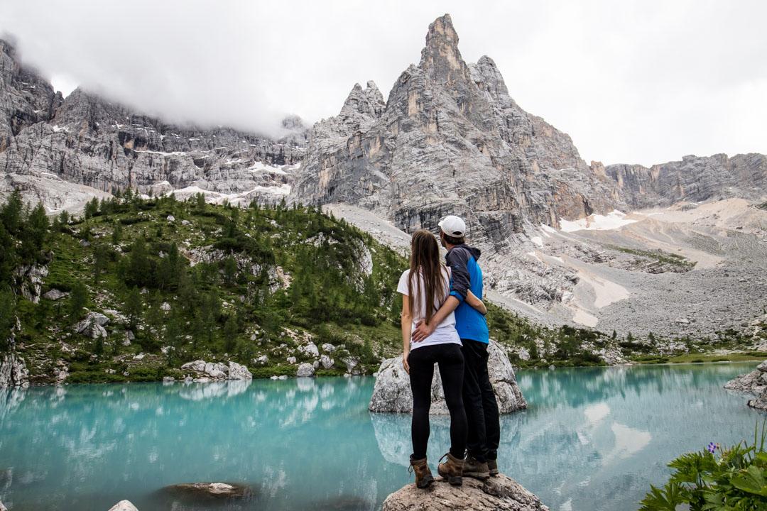 Lago di Sorapis Italissa Dolomiiteilla