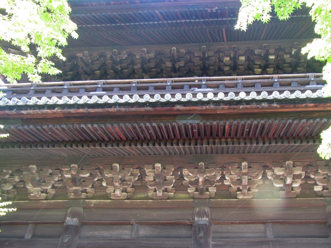 yksityiskohta Nanzen-ji temppelistä Kiotossa Japanissa