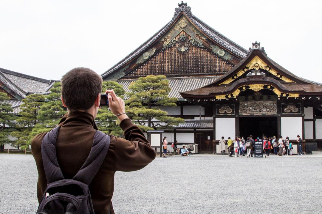 Nijon linna Kiotossa Japanissa