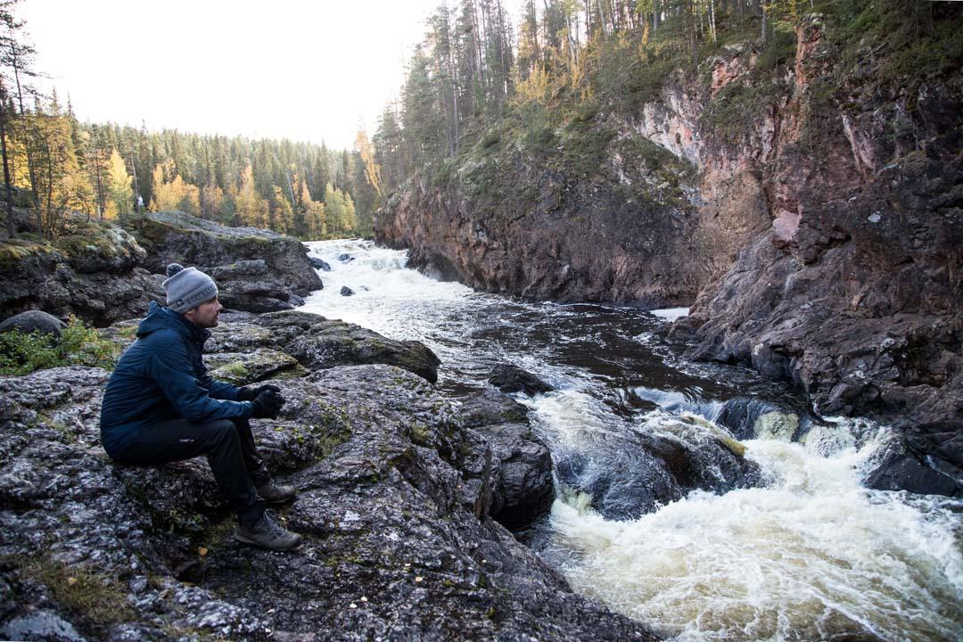 vesiputous Kiutaköngäs Oulangan kansallispuistossa