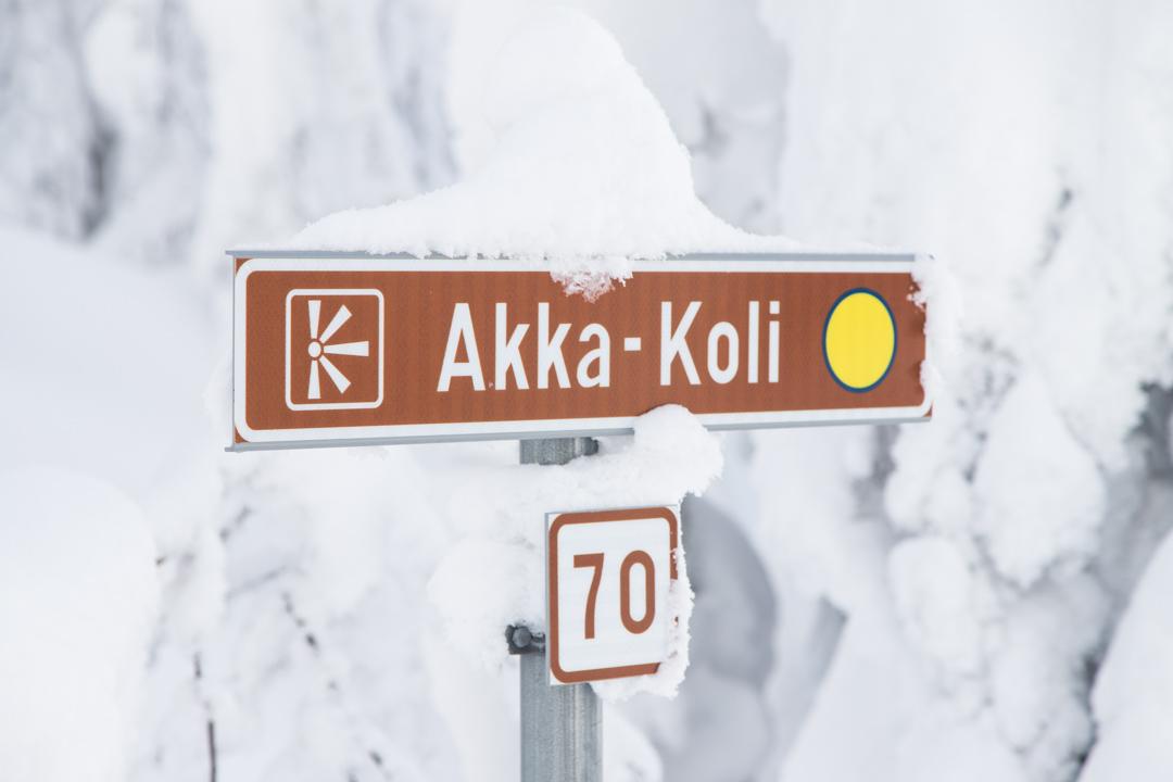 Akka-Kolin näköalapaikka talvella