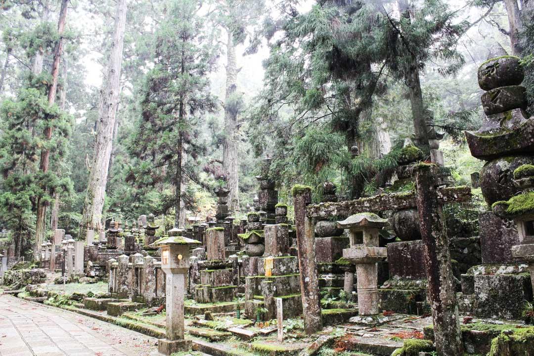Japanin suurin hautausmaa, Koyasan Japanii