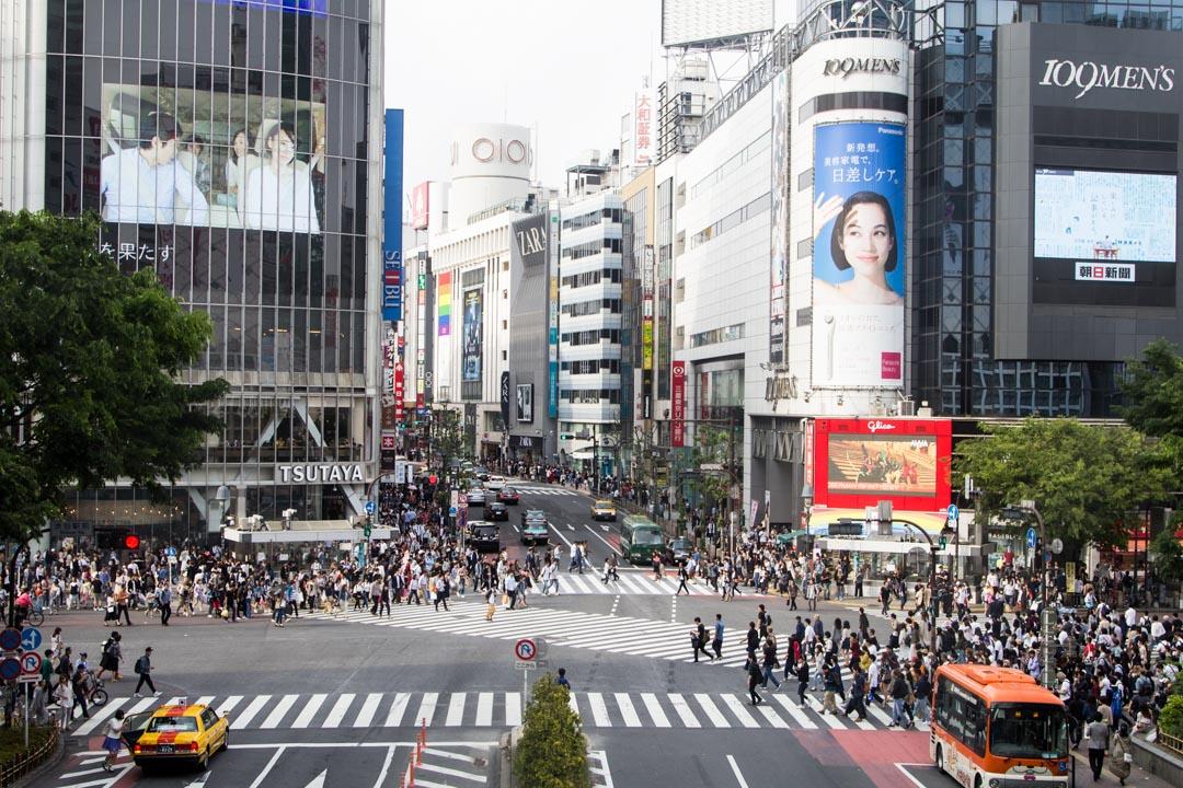Shibya risteys Tokio Japani