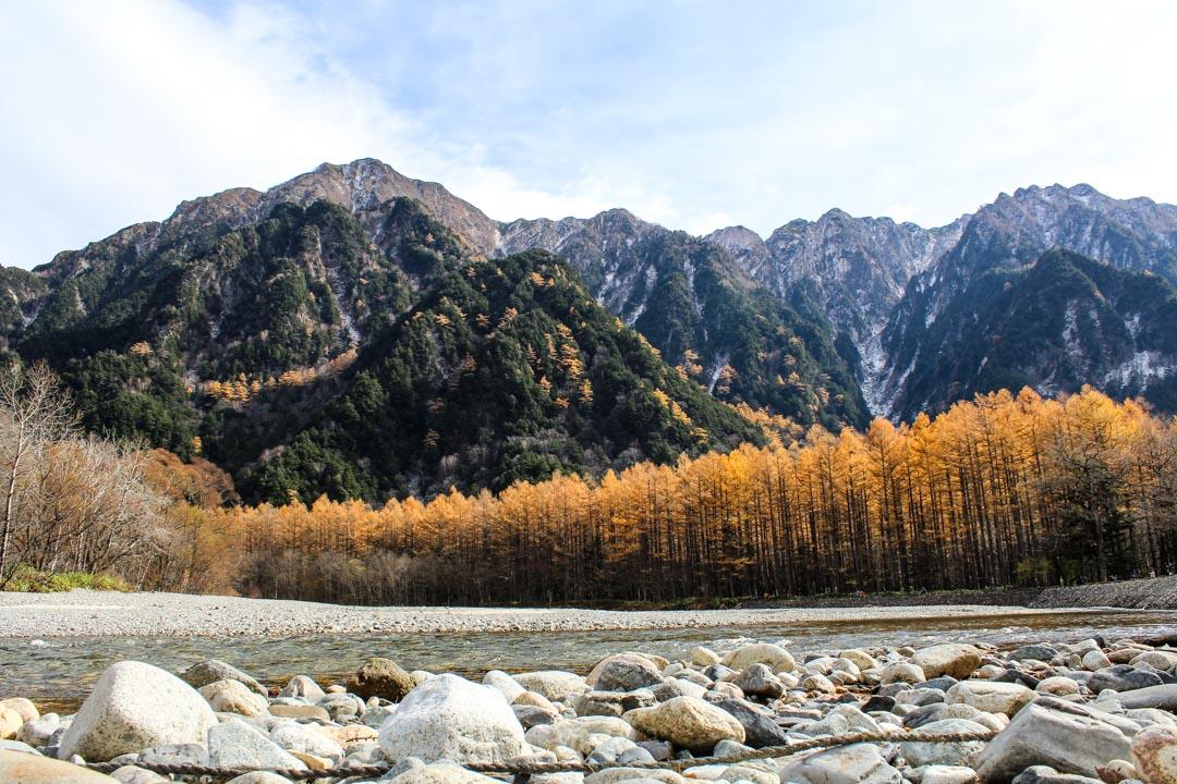 vaelluskohde Kamikochi Japanin Alpeilla