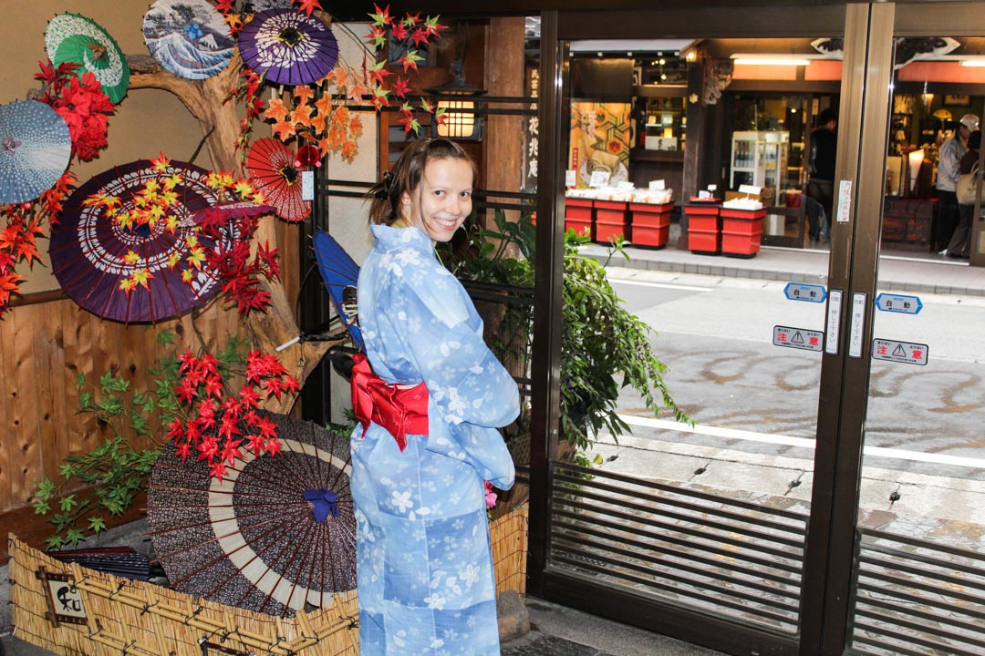 onsenkaupunki Kinosaki Japaniissa