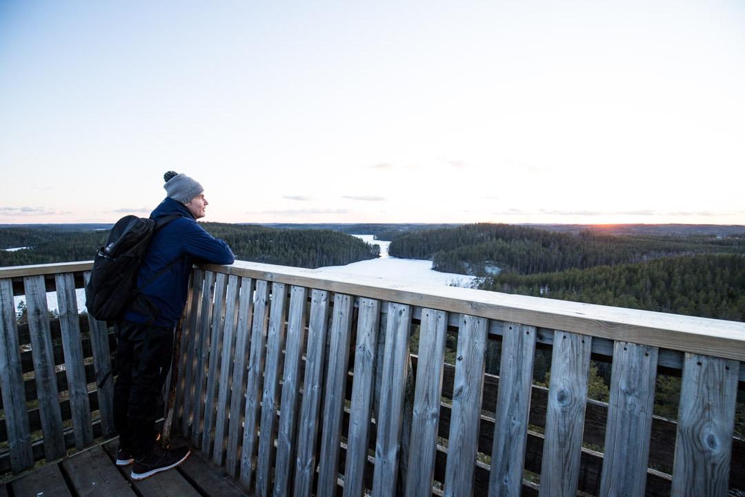 Mustalamminvuoren näköalatorni Repoveden kansallispuistossa