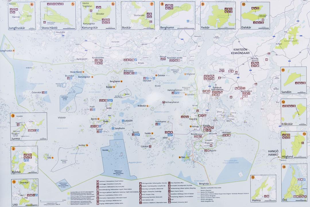 Saaristomeren kansallispuiston kartta