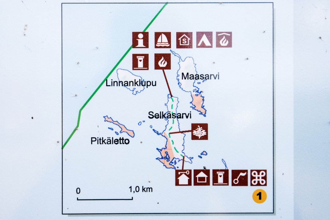 Perämeren kansallispuiston Selkä-Sarven kartta
