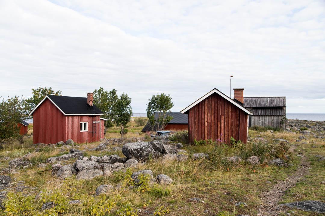 Perämeren kansallispuiston Selkä-Sarven rakennuksia