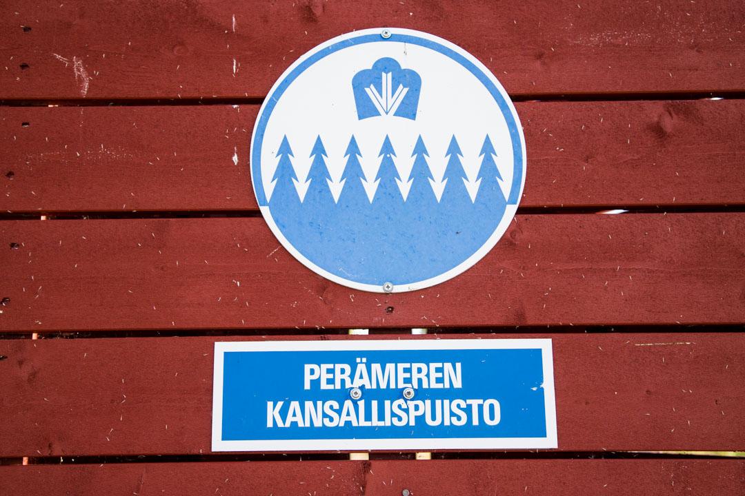 Perämeren kansallisupuiston kyltti