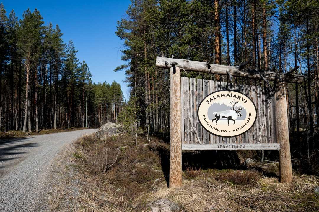 Salamajärven kansallispuiston logo
