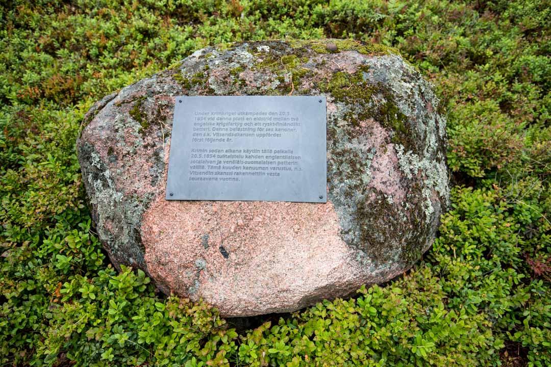Dagmarin puisto ja Vitsandin muistolaatta