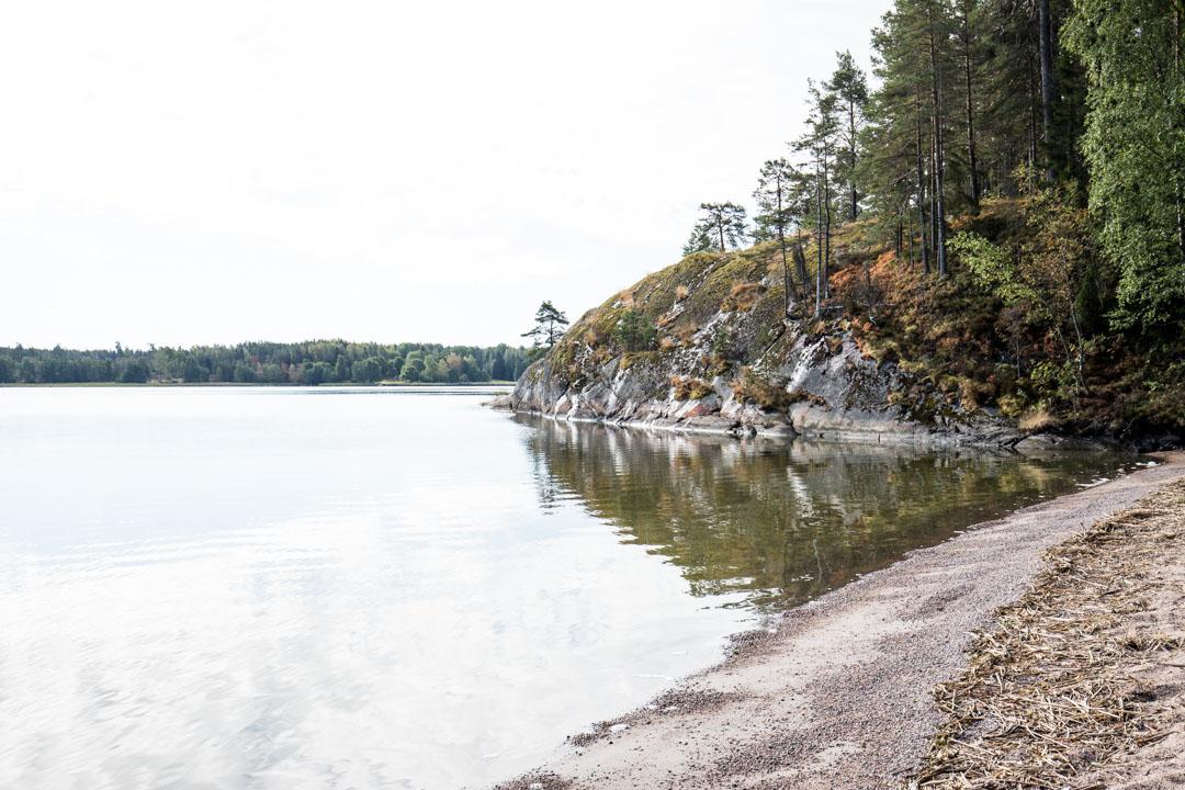 Dagmarin puisto ja Skutviken hiekkaranta