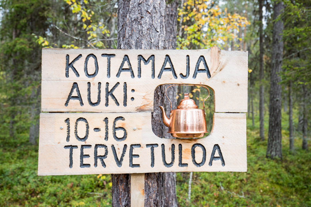 Kotamaja Kukastunturin kierroksella Pallas-Yllästunturin kansallispuistossa