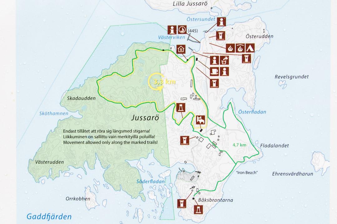 Jussarön kartta
