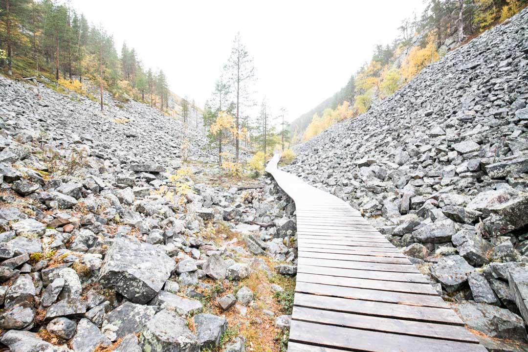 Karhujuomalammen reitti Pyhä-Luoston kansallispuistossa