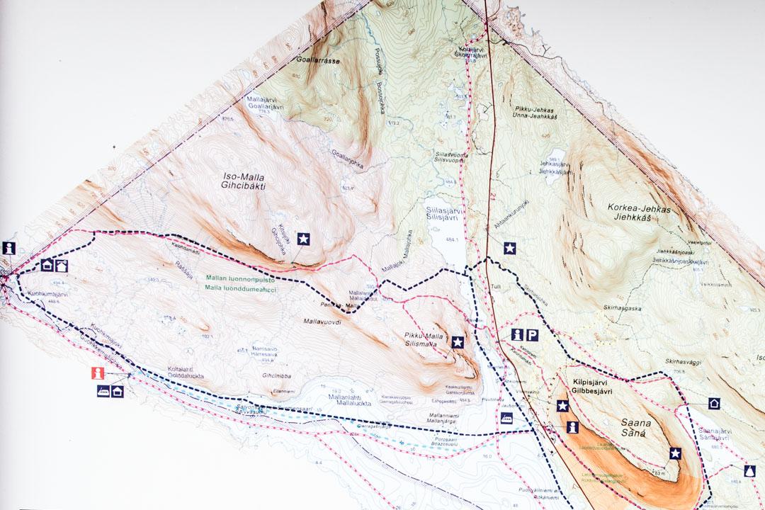 Mallan luonnonpuiston kartta