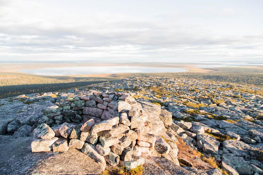 maisemat Pyhä-Nattasen huipulta Sompion luonnonpuistossa